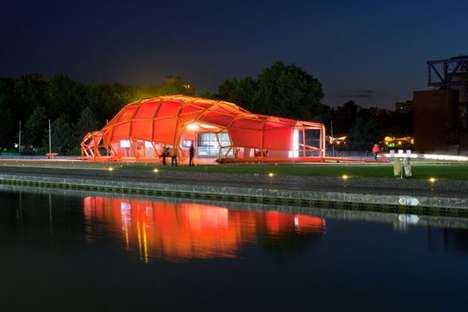 Orange Metallic Pavilions