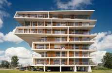 Top-Heavy Architecture - The Tartu Rebase Street Project is Comprised of Stacked Villas