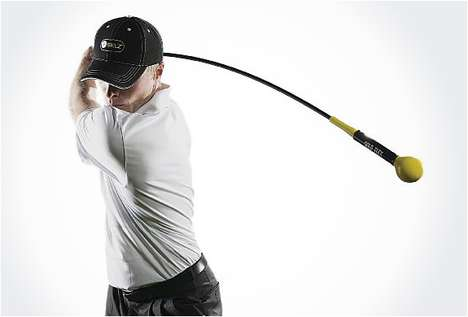 Ab-Amping Golf Clubs - The Gold Flex Golf Trainer Will Flatten Your Tummy and Improve Your Swing