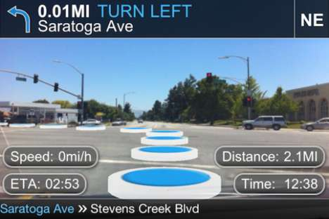 Futuristic Navigation Apps - The TapNav App Uses Augmented Reality and GPS to Enhance Driving