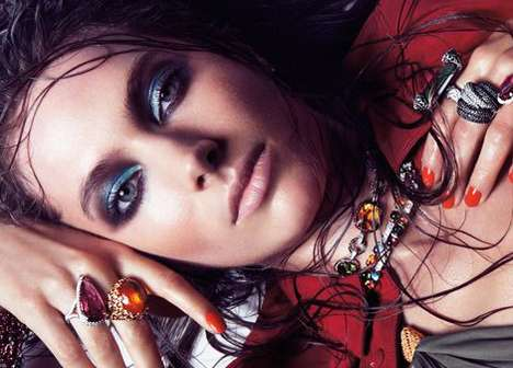 The Jessica Miller Vogue Spain July 2011 Spread is Blinged-Out