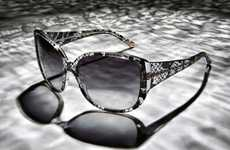 Delicate Designer Sunnies - The Dolce & Gabbana Lace Collection Incorporates the Brand's Trademark