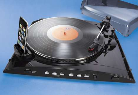 iPod Turntable Transfers Classics from LPs to your Device