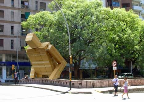 Pablo Curutchet Creates a Huge Corrugated Creature in Cordoba