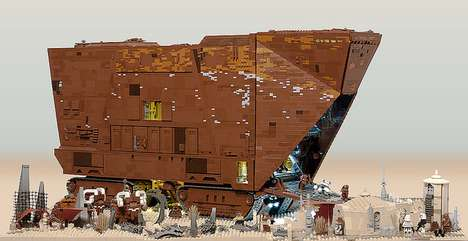 'Marshal Banana' Recreates the Star Wars Sandcrawler Using 10,000 LEGO Pieces