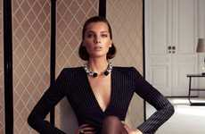 Sophisticated Sensual Photography - The Daria Werbowy Ferragamo Fall Ad Campaign is Stylish