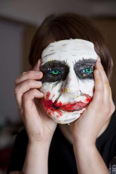 Creepy Joker Cakes