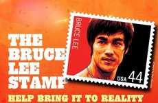Celebratory Martial Arts Stamps - The Bruce Lee Postage Stamp Commemorates the Martial Arts Master
