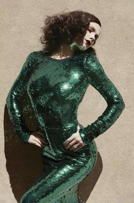 Sequinned Green Editorials - The Anna Paquin V Magazine Spread Features True Blood's Notable Star