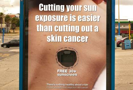 Sunscreen-Dispensing Signage - This SunSmart Australia Campaign Encourages Skin Protection