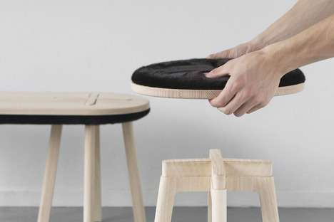 Reversible Stools - The Cross Seating Design Lets Users Customize Their Seat