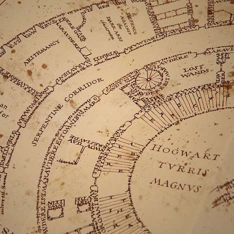 Whimsical Wizard Cartography - The Marauder's Map is Perfect for Muggles