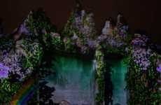 Animated Peak Projections - The Tantrum Design Canada's Wonderland 3D Show is Grand