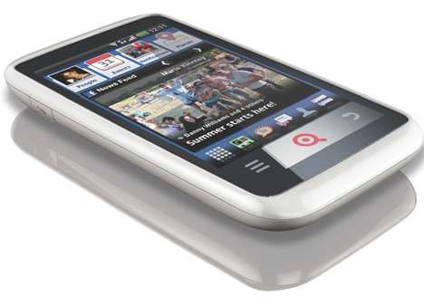 Social-Centric Smartphones - The INQ Cloud Touch Features a Facebook Home Screen