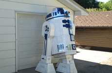 Gargantuan Android Models - Len Komonac Designs an 8 Foot Tall R2D2