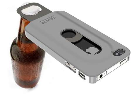Beer-Friendly Phone Protectors - The Opena iPhone 4 Case is Your New Drinking Buddy