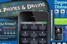 Driver Distraction Charts - This 'Cell Phones & Driving' Infographic Can Save Lives