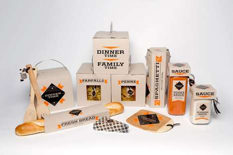 Family Bonding Branding - The Dinner Time Pasta Project Captures the Essence of Meals