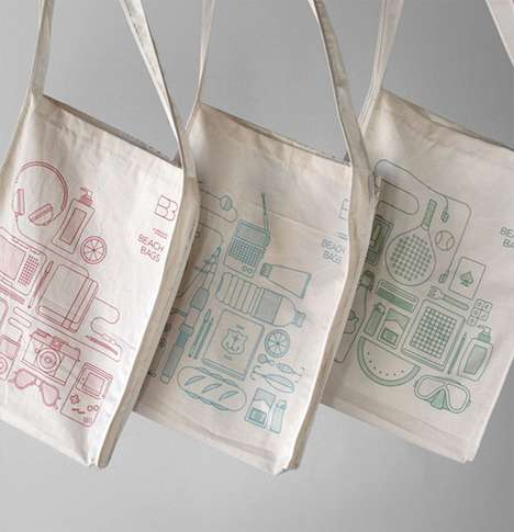 Organized Content Totes - The Atipus Beach Bags are Simple in Design