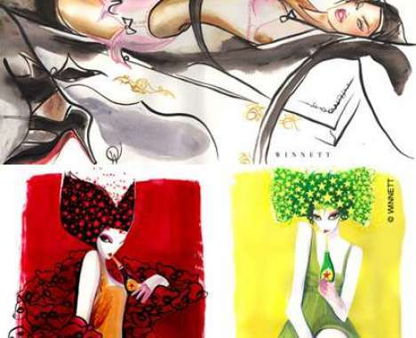 56 Hot High-Fashion Illustrations