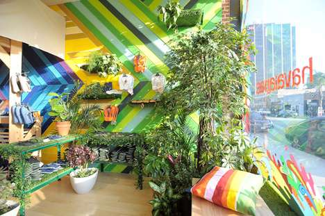 Tropical Pop-Up Shops - Havaianas Mercado Store Brings Brazil to Los Angeles