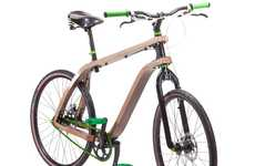 Wooden Two-Wheelers - Get Your Green on With the Stanislaw Ploski 'Bonobo' Plywood Bike
