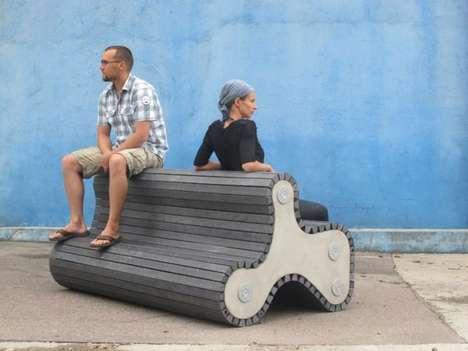 Warped Tire-Like Seating