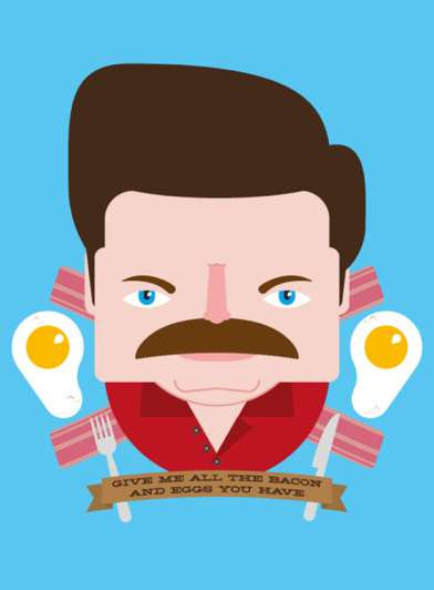 Feast Your Eyes on the Hilarious Ron Swanson Crest