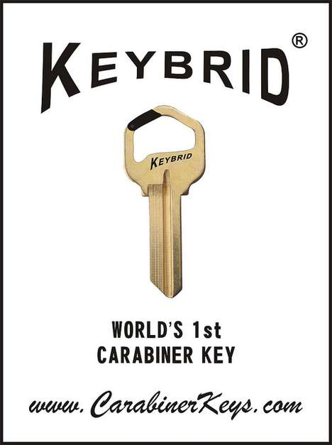 The Carabiner Key Secures Safely onto the Keychain with Minimal Hassle