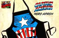 First Avenger Cooking Outfits - The Captain America 'Be The Hero' Apron Says Cook with Heroic Pride