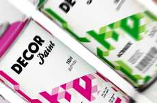 Optical Illusion Branding - Acrilex Decor Paint Packaging Escapes from the Second Dimension