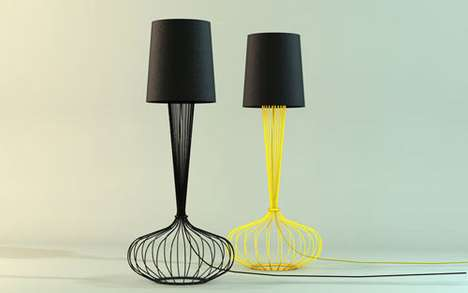 Sculptural Wiry Lighting