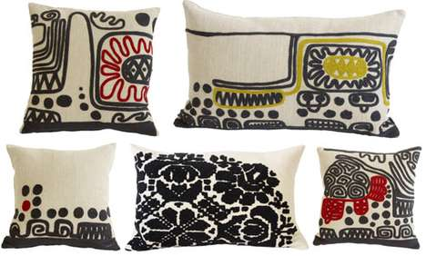 Childlike Embroidered Cushions
