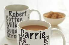 Personalized Caffeine Cups - The 'Milk and Two Sugars Mug' Brings You Coffee the Way You Like it