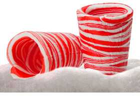 Minty Sweet Holiday Drinks - Candy Cane Shot Glasses