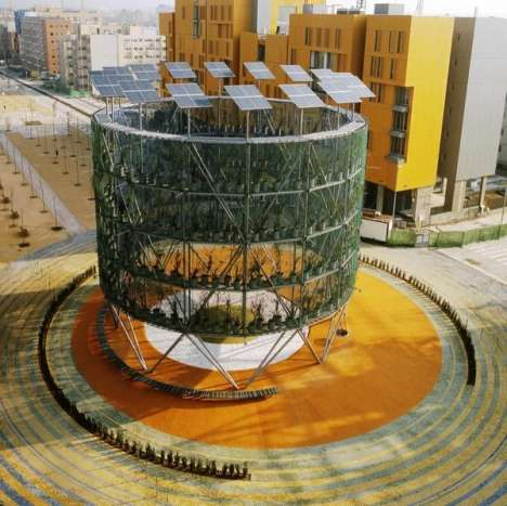 Structure Produces Energy & Oxygen - The Air Tree in Madrid