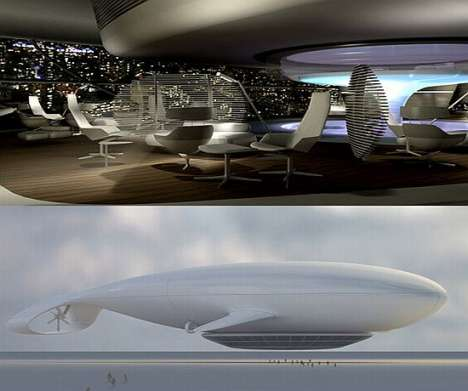 Flying Eco-Friendly Hotel Goes Around The World in 3 Days - Manned Cloud by Massaud Studio