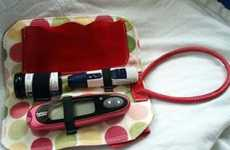 Stylish Diabetic Kit - Glucose Meter Bag by Stick Me Designs