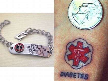Medic Alert Tattoos