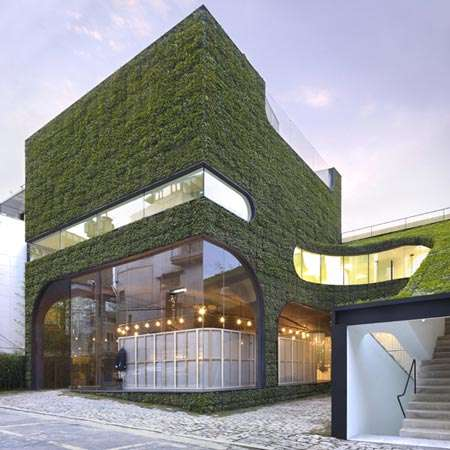 Greenchitecture - Ann Demeulemeester Store is Literally Green