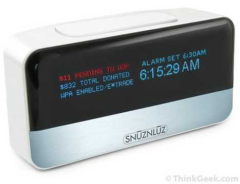 Clock Donates Your Money To Charity When You Hit Snooze - SnūzNLūz Alarm Clock