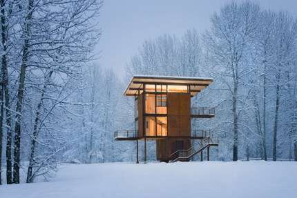 Luxury Steel Box Home on Stilts - Delta Shelter