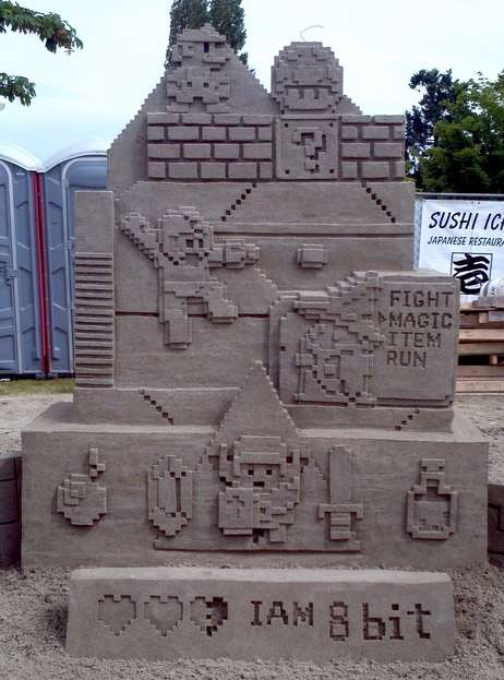 Sizzling 8-Bit Sandcastles