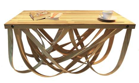 Ribboned Wood Furniture
