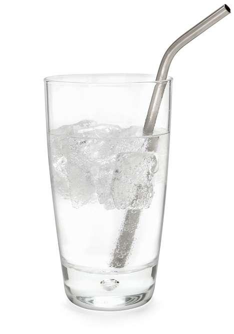 Metallic Beverage-Sippers