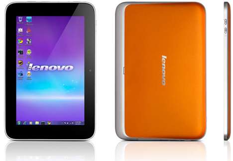 Lightweight Tangerine Tablets - The Lenovo IdeaPad P1 Joins the Revolution of Mobile Computers