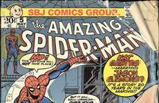 Comic Cover RSVPs - The Spiderman Save-the-Date Card Sends Lovely Tingles Down Guests' Spines