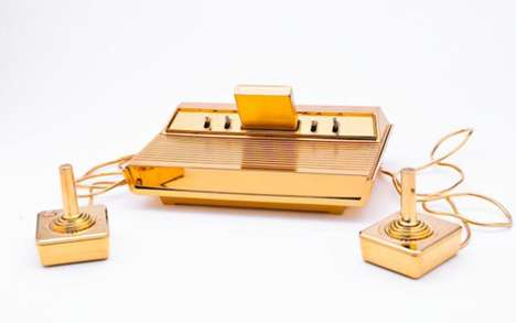 The Gold-Plated Atari 2600 Glimmers for Blinged-Out Gamers