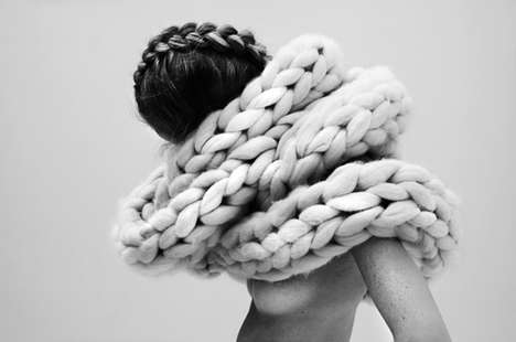 Exaggerated Crochet Ensembles - The More or Less Collection is a Woven Paradox