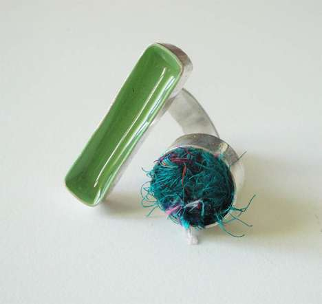 Precocious Knit Jewelry - Ring With Silk Yarn is a Brilliant and Creative Concept